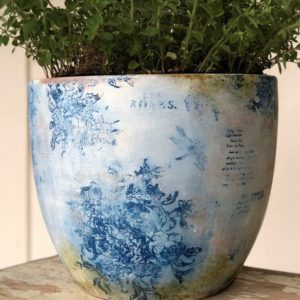 Create this Mock Flow Blue Pot