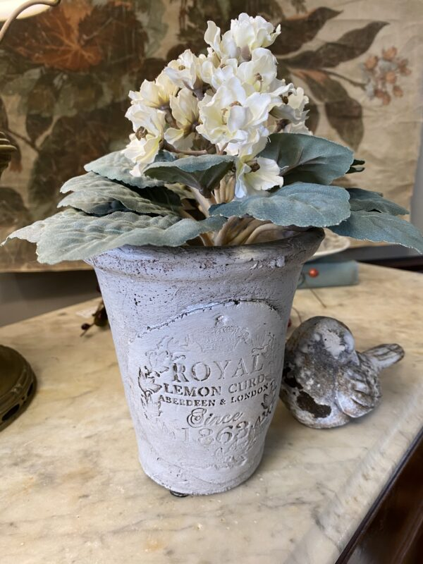 Transform a clay pot with Iron Orchid Design clay and crockery stamps at Extending Grace Hubbard, Ohio