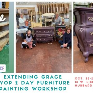 Refresh your old furniture during our Bring Your Own Piece Furniture Painting Workshop at extendinggrace..net