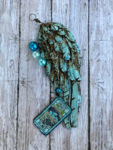 Create these mixed media wings using Iron Orchid Design Moulds and clay at extendinggrace.net