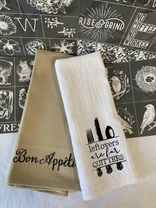 Learn how to customize your own kitchen decor using A Maker's Studio stencils at extendinggrace.net